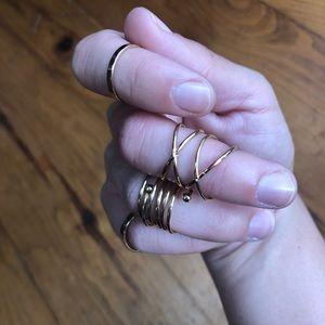 Jewelry - ✨2/20' 5 piece ring Bundle